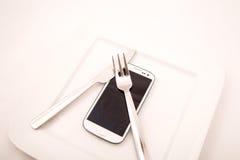 Smartphone Food Royalty Free Stock Photos