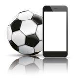 Smartphone Football Mirror Mockup Stock Photography