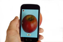 Smartphone fotografia Obraz Stock