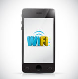 Smartphone free wifi connection illustration Royalty Free Stock Image