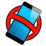 Smartphone Frontal Ban Sign Isolated Royalty Free Stock Image