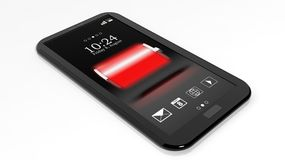 Smartphone with full battery Royalty Free Stock Photo