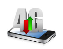 Smartphone 4g connection. illustration design. Over a white background Royalty Free Stock Photography