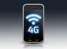 Smartphone 4G. Smartphone illustration with -4G- wording Stock Photo