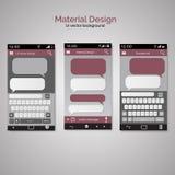 Smartphone gawędzenia sms wiadomości mowy bąble Smartphone klucz Obrazy Royalty Free