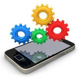 Smartphone Gears Stock Image
