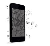 Smartphone gebrochenes Glas Lizenzfreie Stockfotos