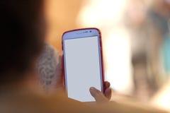 smartphone in gebruiks zachte nadruk Royalty-vrije Stock Afbeelding