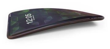 Smartphone genérico doblado stock de ilustración
