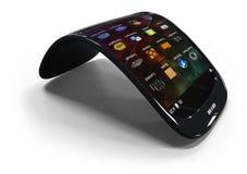 Smartphone genérico flexible Imagen de archivo libre de regalías