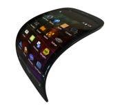 Smartphone generico flessibile Immagini Stock Libere da Diritti