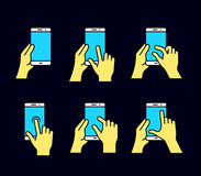 Smartphone gesture icon Royalty Free Stock Photo