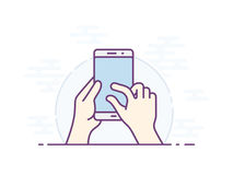 Smartphone gesture icon. Touch screen zoom gesture icon for smartphone. Vector icon for a mobile app user interface or manual. Smartphone screen with gesture Royalty Free Stock Photo