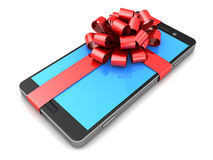 Smartphone gift Royalty Free Stock Images