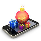 Smartphone Gifts Bauble Royalty Free Stock Photo