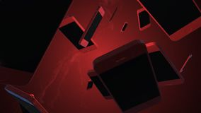 Smartphone giratorio animaci?n 3D Giro de los objetos stock de ilustración