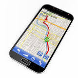 Smartphone with GPS navigation Royalty Free Stock Photo