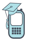Smartphone with grad cap Stock Images