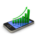 Smartphone Green Chart Stock Image