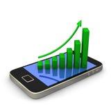 Smartphone Green Chart vector illustration