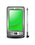 Smartphone with green screen Stock Photography