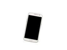 Smartphone ha isolato su priorità bassa bianca Fotografia Stock