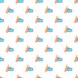 Smartphone in hand pattern, cartoon style Royalty Free Stock Photos
