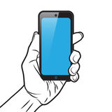 Smartphone in Hand Royalty Free Stock Images