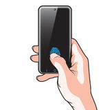 Smartphone in Hand Royalty Free Stock Photography