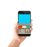 Smartphone in hand Stock Image