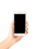 smartphone in a hand Stock Photography