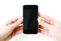 Smartphone  in hands Royalty Free Stock Images