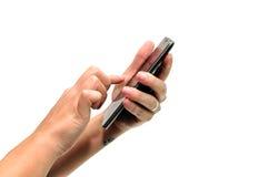 Smartphone hands Stock Image