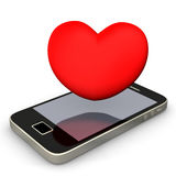 Smartphone Heart Stock Images