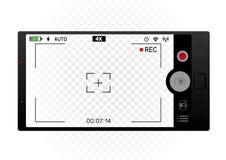 Smartphone-het malplaatje van de camerabeeldzoeker royalty-vrije illustratie