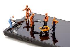 Smartphone-het schermreparatie Stock Foto's