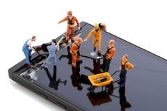 Smartphone-het schermreparatie Royalty-vrije Stock Afbeeldingen