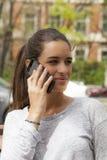 Smartphone-het Spreken Stock Fotografie