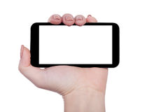 Smartphone horizontally isolated Stock Photo