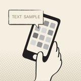 Smartphone i mowa bąbel ilustracji