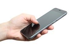 Smartphone i vänstersidahanden Arkivfoton