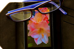 Smartphone i widowiska fotografia royalty free