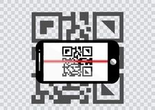 Smartphone icon with sample Bar Codes For Scanning Icon with red laser, Vector Illustration isolated. Smart phone icon with sample Bar Codes For Scanning Icon Stock Photo