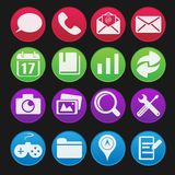 Smartphone Icon Set Royalty Free Stock Photography