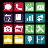 Smartphone Icon Set Royalty Free Stock Image