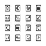 Smartphone icon set Stock Photography