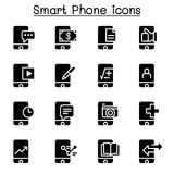 Smartphone icon set. Vector illustration graphic design Royalty Free Stock Images