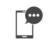Smartphone icon. Simple black vector icon Stock Image