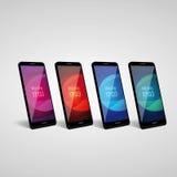 Smartphone icon vector mockup Royalty Free Stock Photo