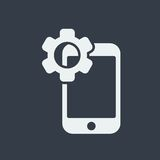 smartphone icon website seo flat design, gadget icon Royalty Free Stock Image